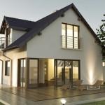 Dom jednorodzinny połączenie PVC i Aliminium