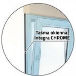 Zastosowanie taśmy Integra Chrome w stolarce okiennej