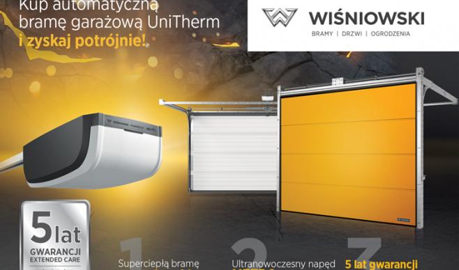 WIŚNIOWSKI: Kup automatyczną bramę UniTherm i zyskaj potrójnie!