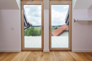 Double door to a terrace